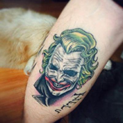 邪恶的小丑纹身头像_WWW.QQYA.COM