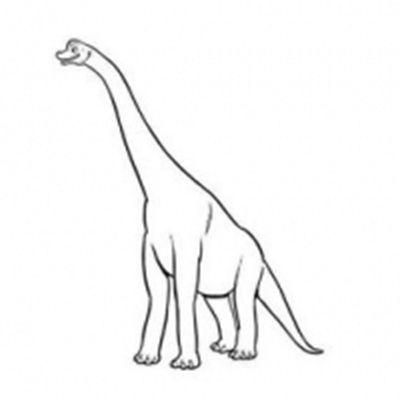 恐龙简笔画头像图片大全_WWW.QQYA.COM