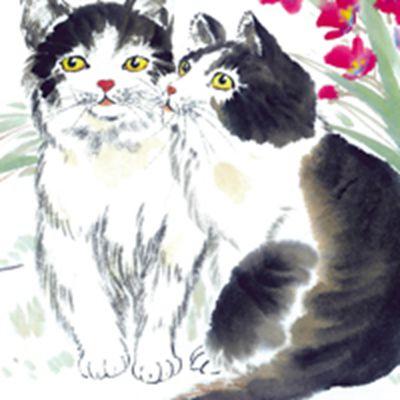 国画猫咪图片头像大全_WWW.QQYA.COM