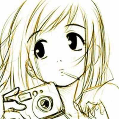 手绘速写人物微信头像图片_WWW.QQYA.COM