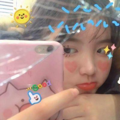 可爱女生头像带有贴纸_WWW.QQYA.COM