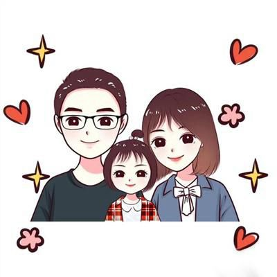 三口之家微信头像_WWW.QQYA.COM