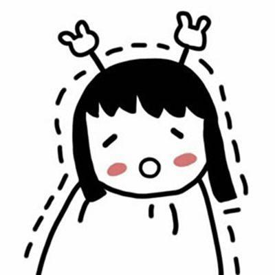 简笔画手绘Q版可爱女生头像_WWW.QQYA.COM