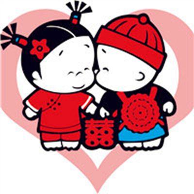 可爱卡通结婚情侣头像_WWW.QQYA.COM
