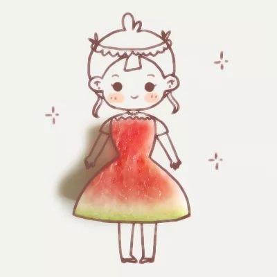 动漫简笔画女生可爱_WWW.QQYA.COM