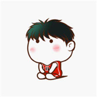 双膝跪地的可爱Q版灌篮高手图片人物头像_WWW.QQYA.COM