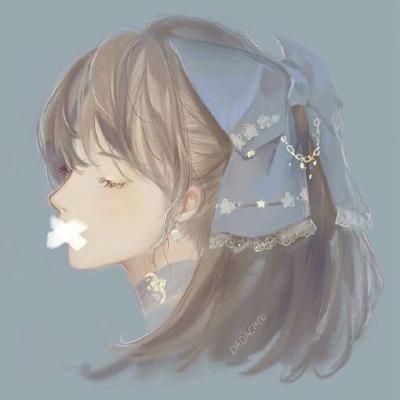卡通人物女生手绘头像图片_WWW.QQYA.COM