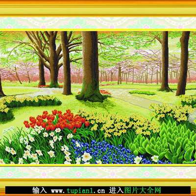 美丽的十字绣风景图案_WWW.QQYA.COM