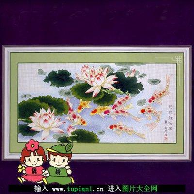 象征爱情的情侣十字绣图案_WWW.QQYA.COM