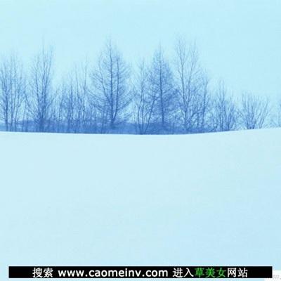 海茫茫的非主流雪景风景图片_WWW.QQYA.COM