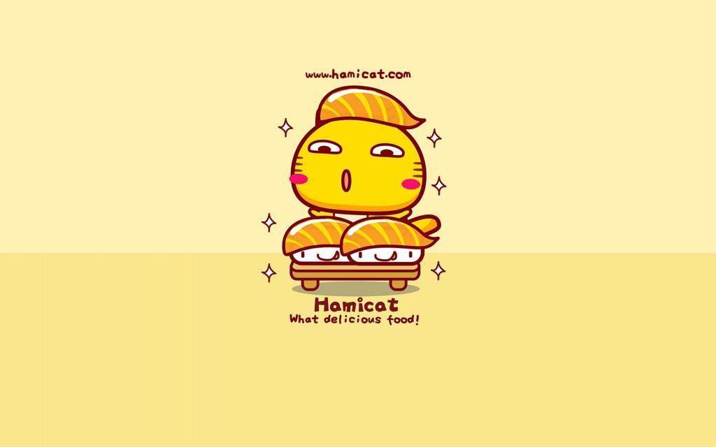 开心很萌的吃货卡通图片_WWW.QQYA.COM