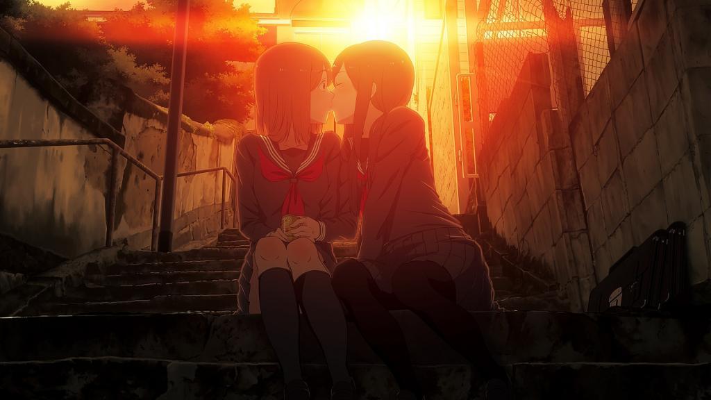 唯美浪漫的动漫女生接吻图片_WWW.QQYA.COM