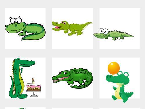 鳄鱼卡通可爱图片_WWW.QQYA.COM