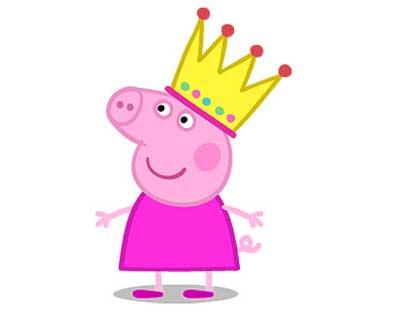戴皇冠的小猪佩奇图片大全_WWW.QQYA.COM
