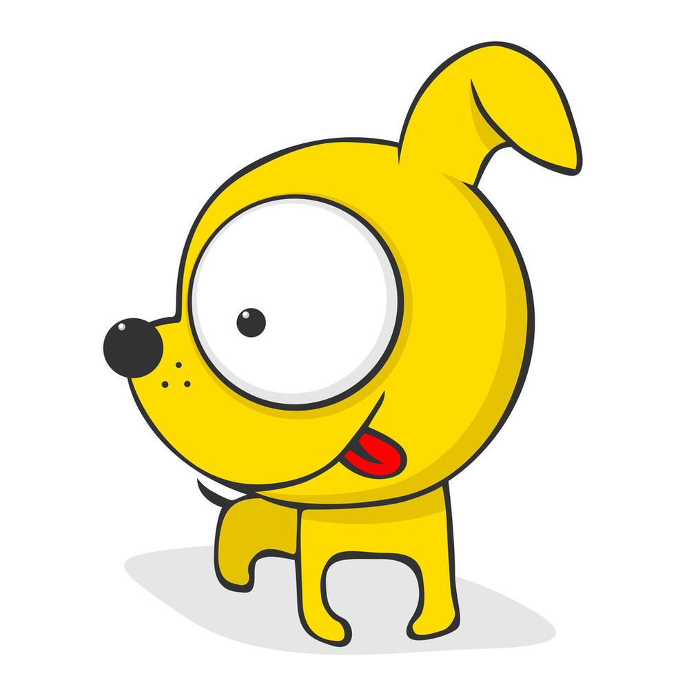 狗图片可爱卡通_WWW.QQYA.COM