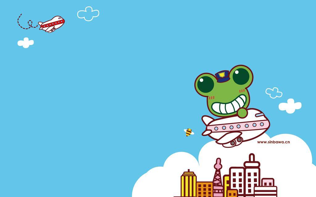 卡通小青蛙壁纸图片_WWW.QQYA.COM