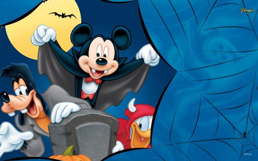可爱米奇老鼠卡通壁纸图片_WWW.QQYA.COM