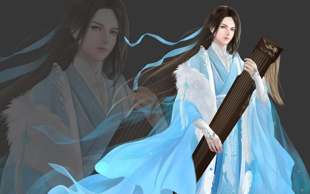 君临天下古风美男壁纸图片_WWW.QQYA.COM