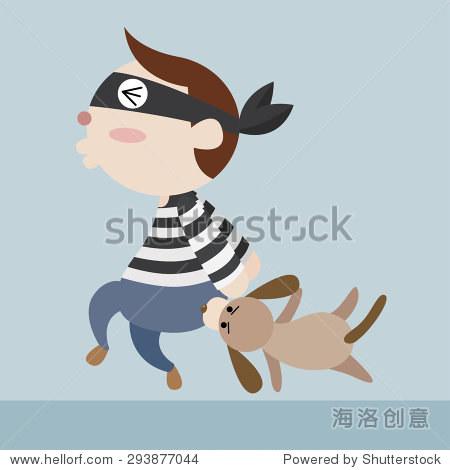 狗咬卡通图片_WWW.QQYA.COM
